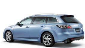 2008 Mazda 6 Wagon Side Pose In Blue